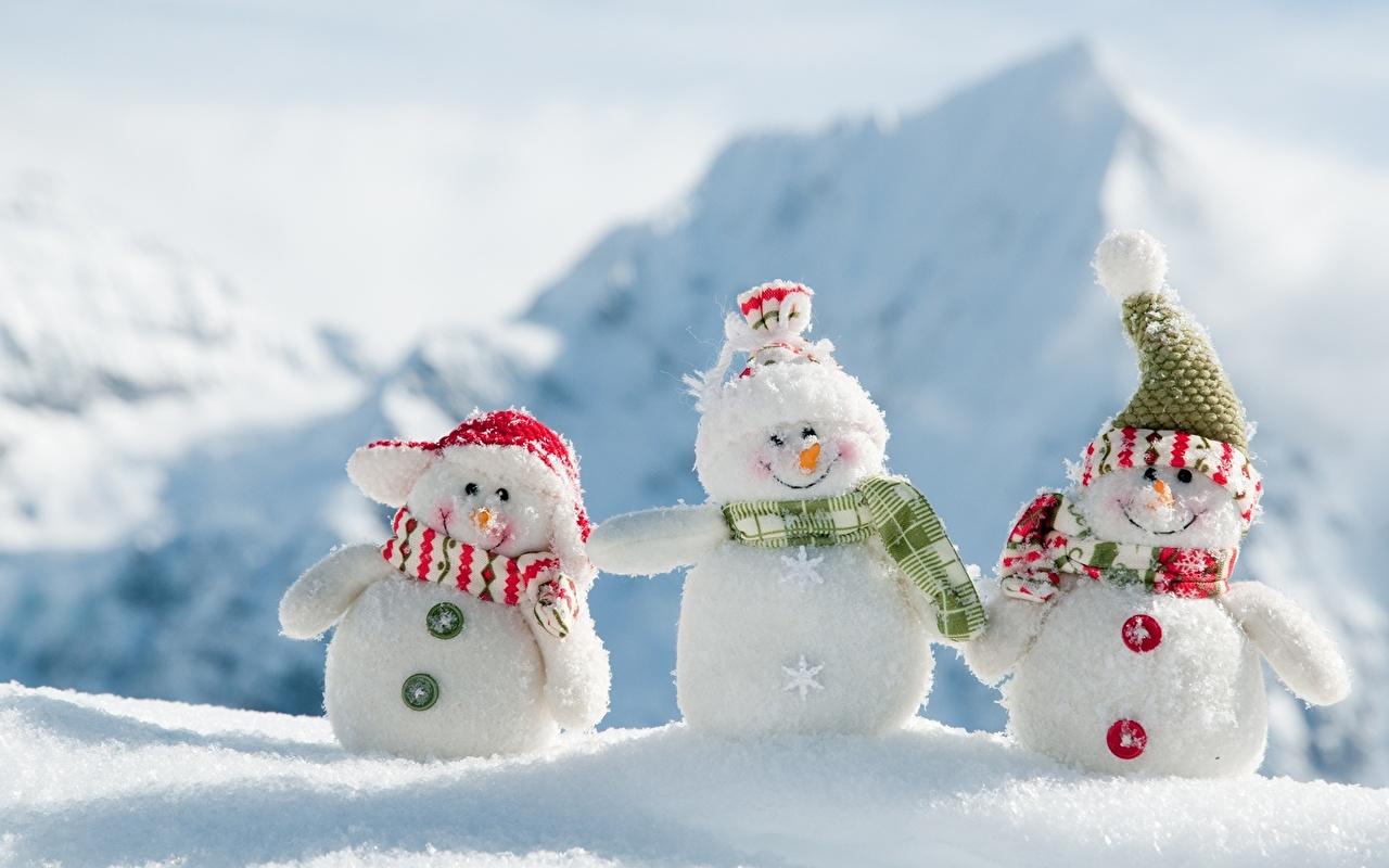 Картинка шарфе улыбается Шапки снегу Снеговики втроем Шарф шарфом Улыбка шапка в шапке Снег снега снеге снеговик снеговика три Трое 3