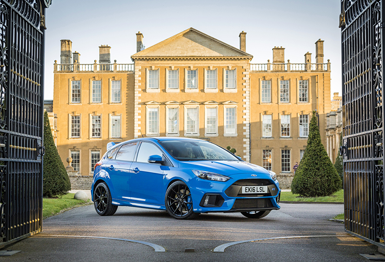 Фотографии Ford 2016 Focus RS голубые Металлик Автомобили Форд голубых Голубой голубая авто машина машины автомобиль
