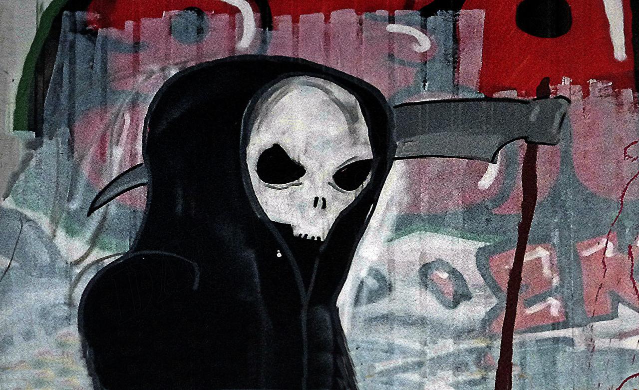 Картинки косы Смерть Граффити с косой Коса (оружие) Образ смерти