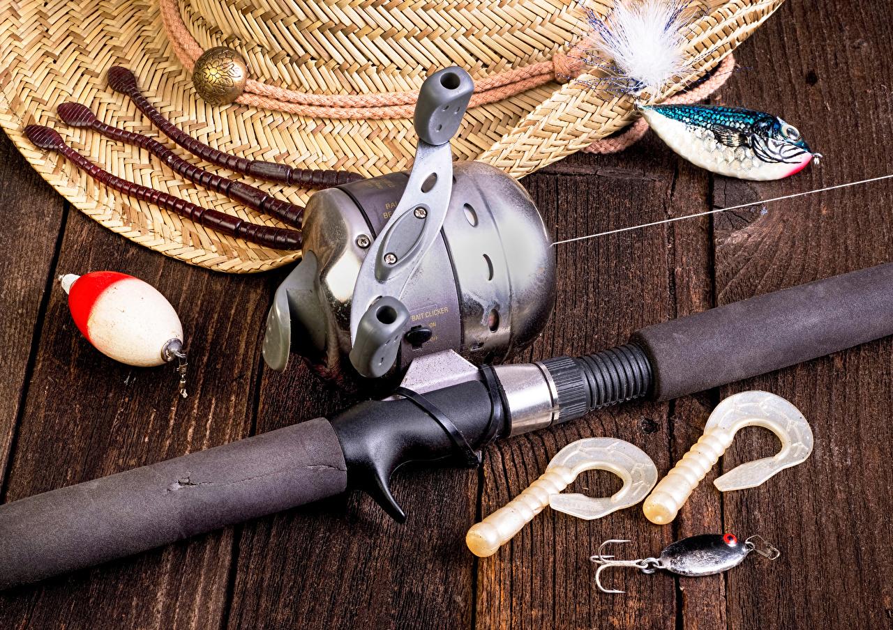 Фотография Спорт ловля рыбы Удочка Доски Рыбалка