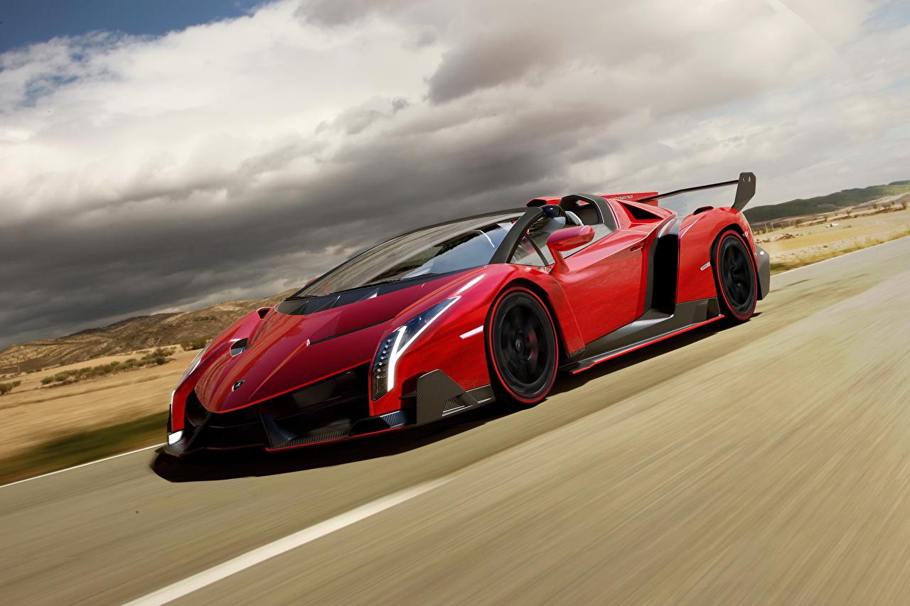 Картинка Lamborghini 2013 Veneno roadster Родстер Роскошные Красный Автомобили облачно Ламборгини дорогие дорогой дорогая люксовые роскошная роскошный красных красные красная Авто Машины облако Облака