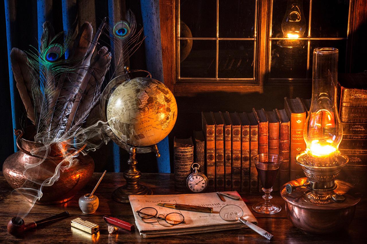 Обои Lamp, книга, smoke, дым, лампа, book. Разное foto 12
