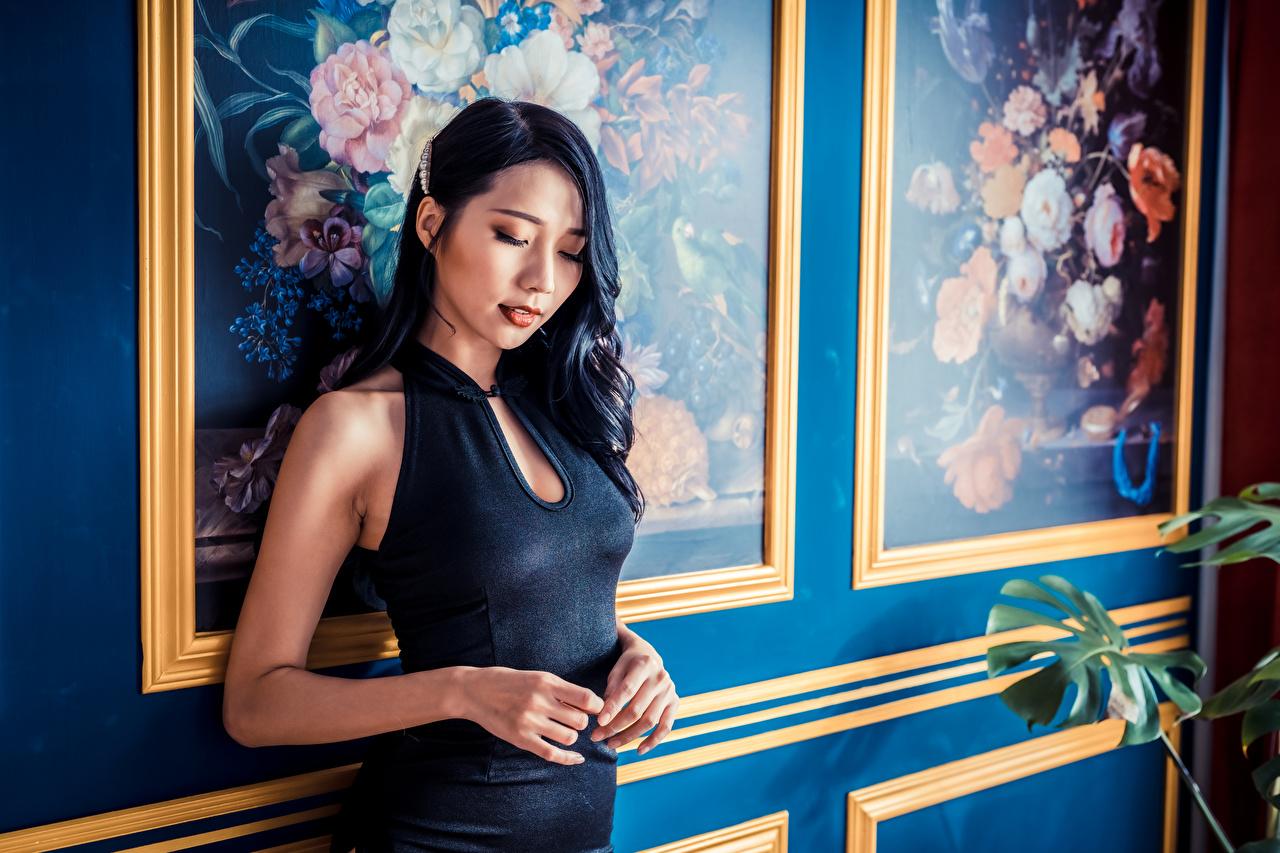 Картинки девушка азиатки Руки Платье Девушки молодая женщина молодые женщины Азиаты азиатка рука платья