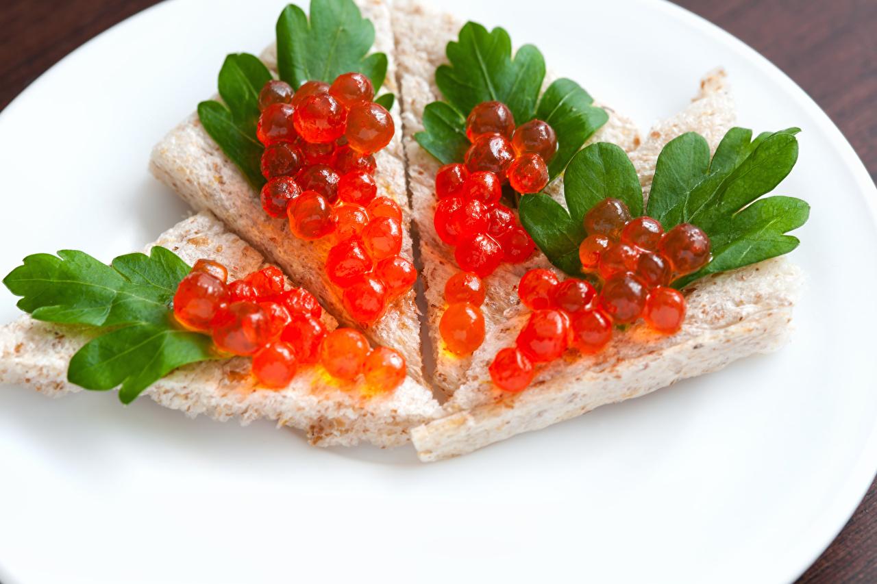 Картинки Икра Бутерброды Пища Выпечка Морепродукты Еда Продукты питания