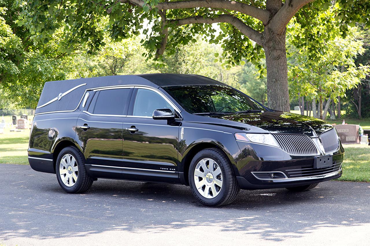 Картинка 2013 lMK Coach Lincoln MKT Funeral черная авто Металлик черных черные Черный машина машины автомобиль Автомобили