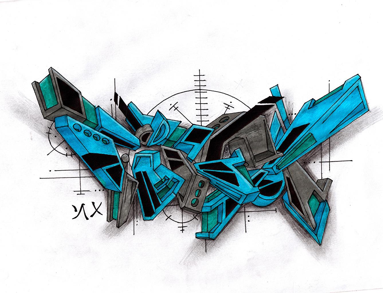 Фотография Лист бумаги FireX Граффити