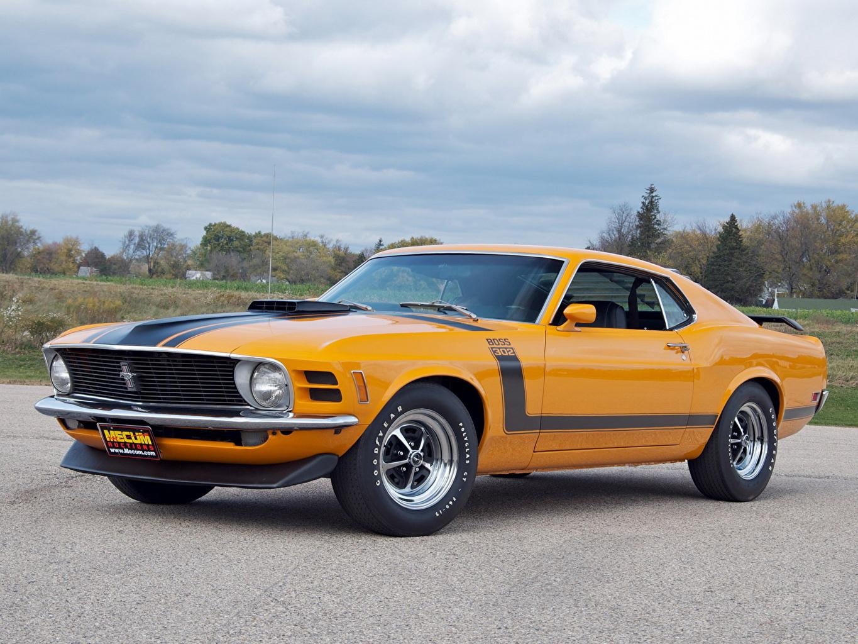 Картинка Форд Mustang Boss 302 1970 автомобиль Ford авто машина машины Автомобили