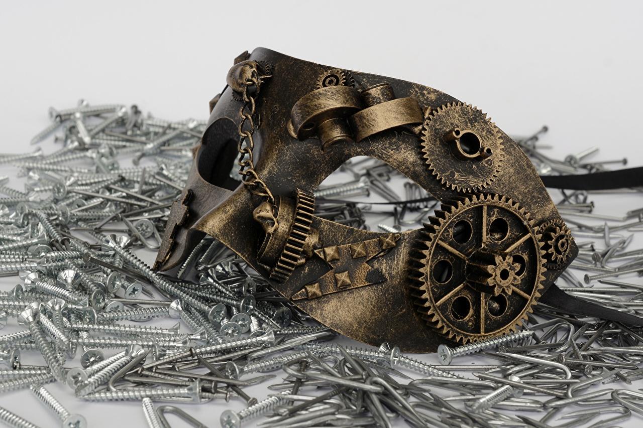 Фотографии Стимпанк Зубчатое колесо Маски паропанк шестерня Шестеренки