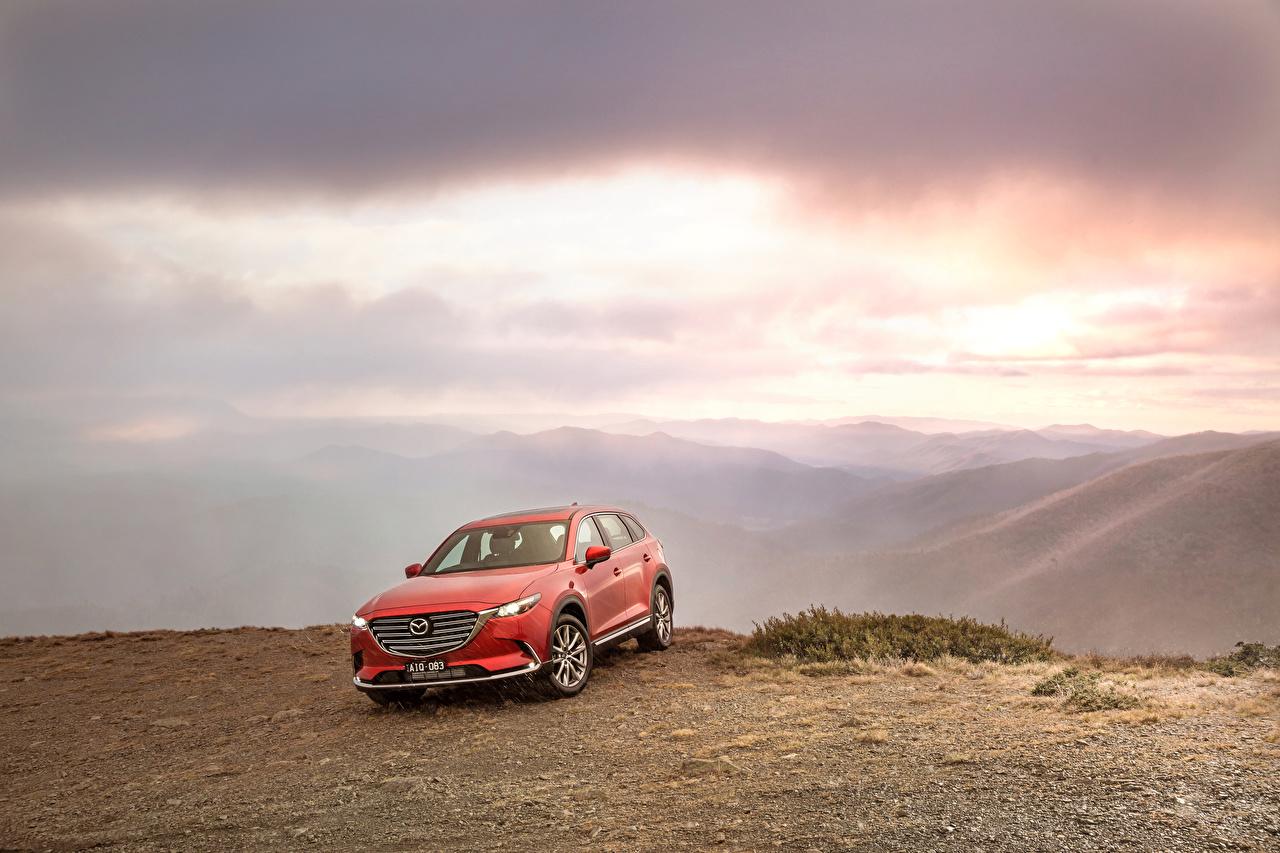 Картинка Mazda 2016 CX-9 GT красных машины Мазда Красный красные красная авто машина автомобиль Автомобили