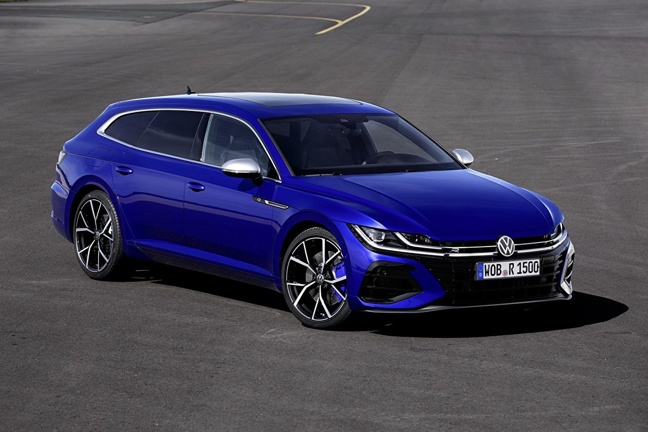 Картинка Volkswagen Универсал Arteon, R-Line, Shooting Brake Синий машины Металлик Фольксваген синих синие синяя авто машина автомобиль Автомобили