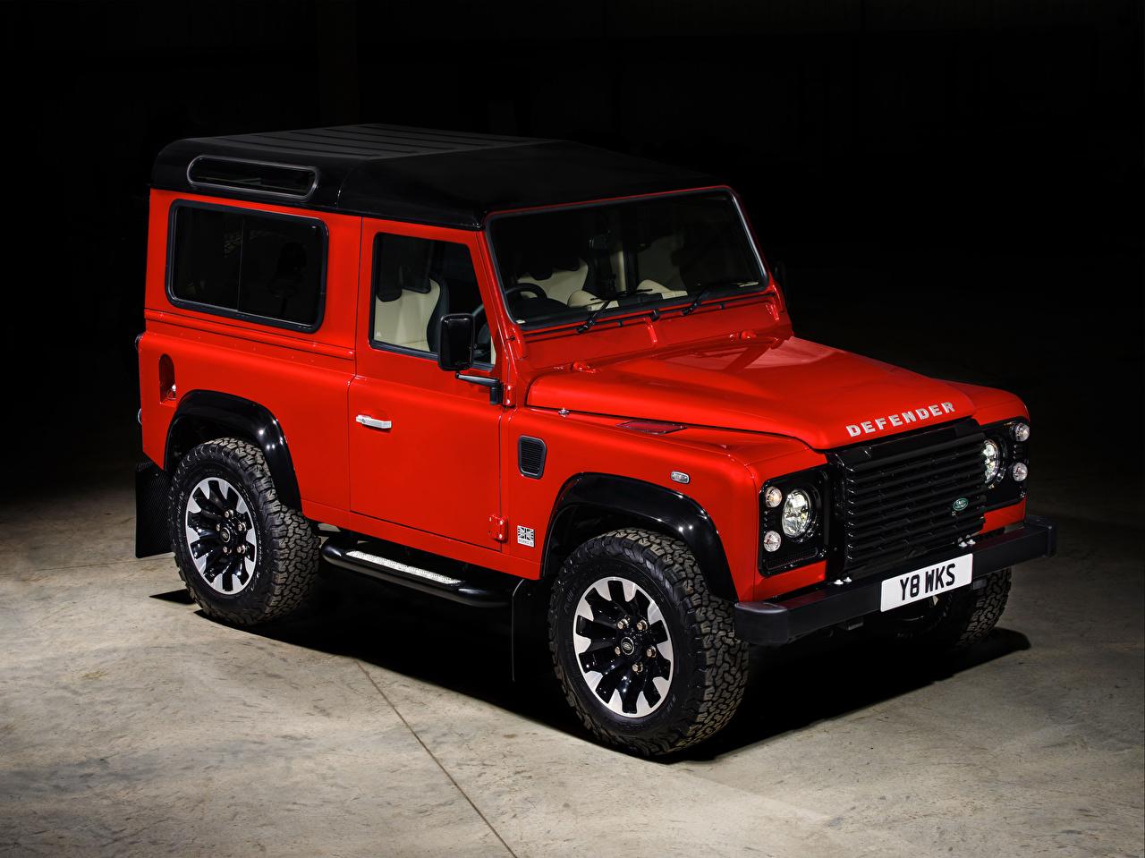 Фото Range Rover Внедорожник 2018 Defender 90 Works V8 красная Автомобили Land Rover SUV Красный красные красных авто машины машина автомобиль