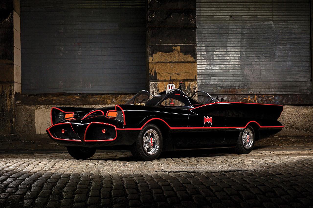 Фотография 1966 Batmobile Кабриолет Ретро черных машины кабриолета Черный черные черная Винтаж старинные авто машина автомобиль Автомобили