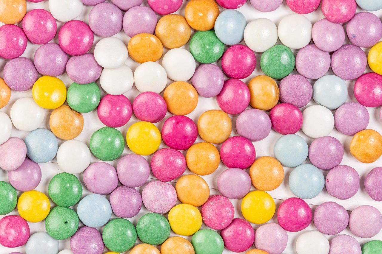 Картинка Текстура Драже Разноцветные Пища Сладости Еда Продукты питания сладкая еда