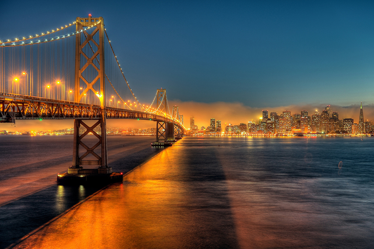 Обои калифорния, bay bridge, san francisco, california. Города foto 15