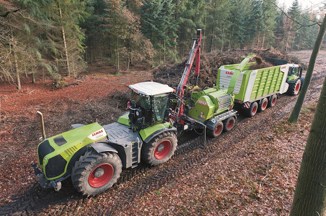 Картинка Сельскохозяйственная техника Трактор 2009-13 Claas Xerion 4500 Trac VC