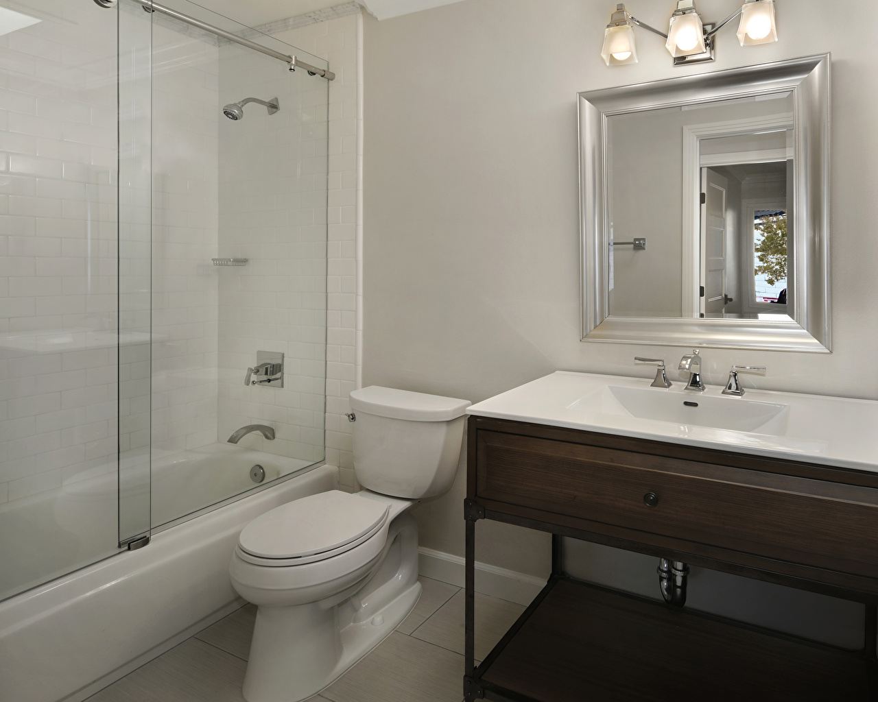 Картинка туалете Ванная Интерьер зеркала дизайна Туалет туалета туалетная комната зеркал Зеркало Дизайн