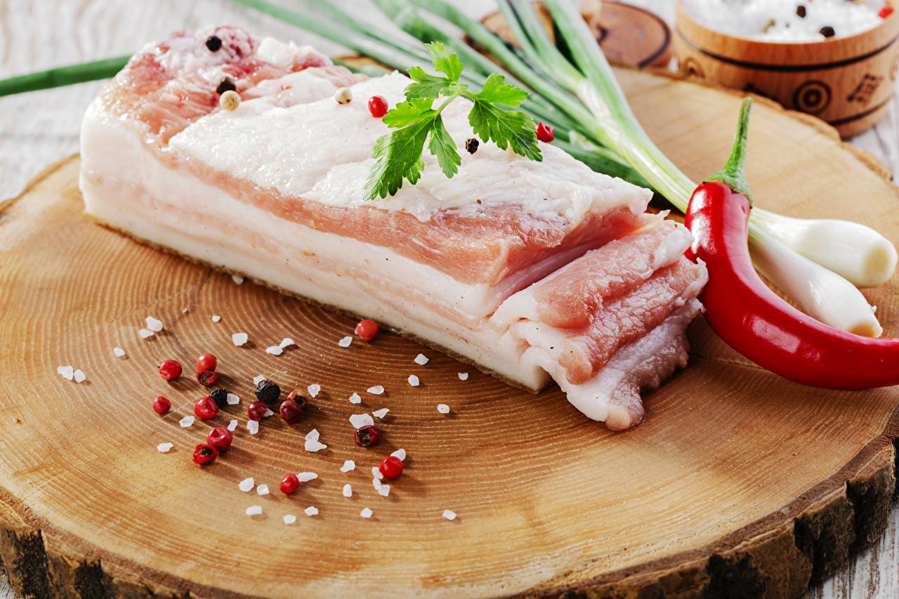 Картинки Сало Пища Перец приправы Еда Специи пряности Продукты питания