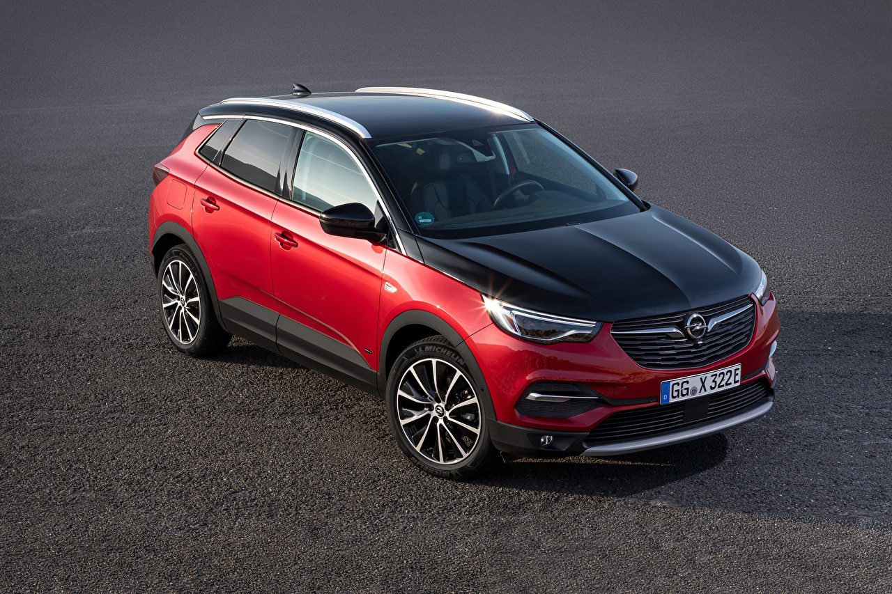 Фотографии Опель 2019-20 Grandland X Hybrid4 Красный Металлик Автомобили Opel красная красные красных авто машины машина автомобиль