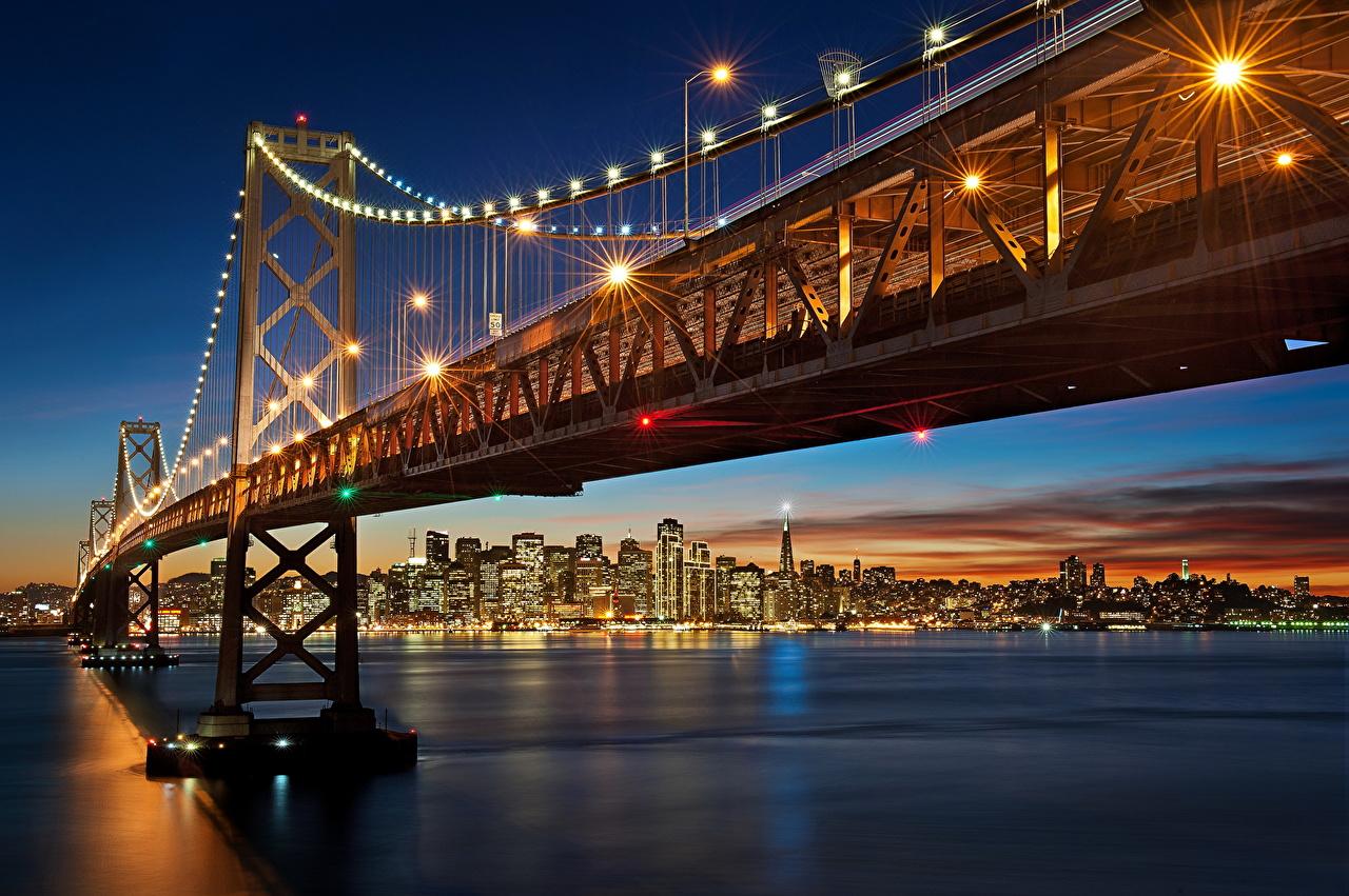 Фотография Калифорния Сан-Франциско штаты Мосты Города калифорнии США америка мост город