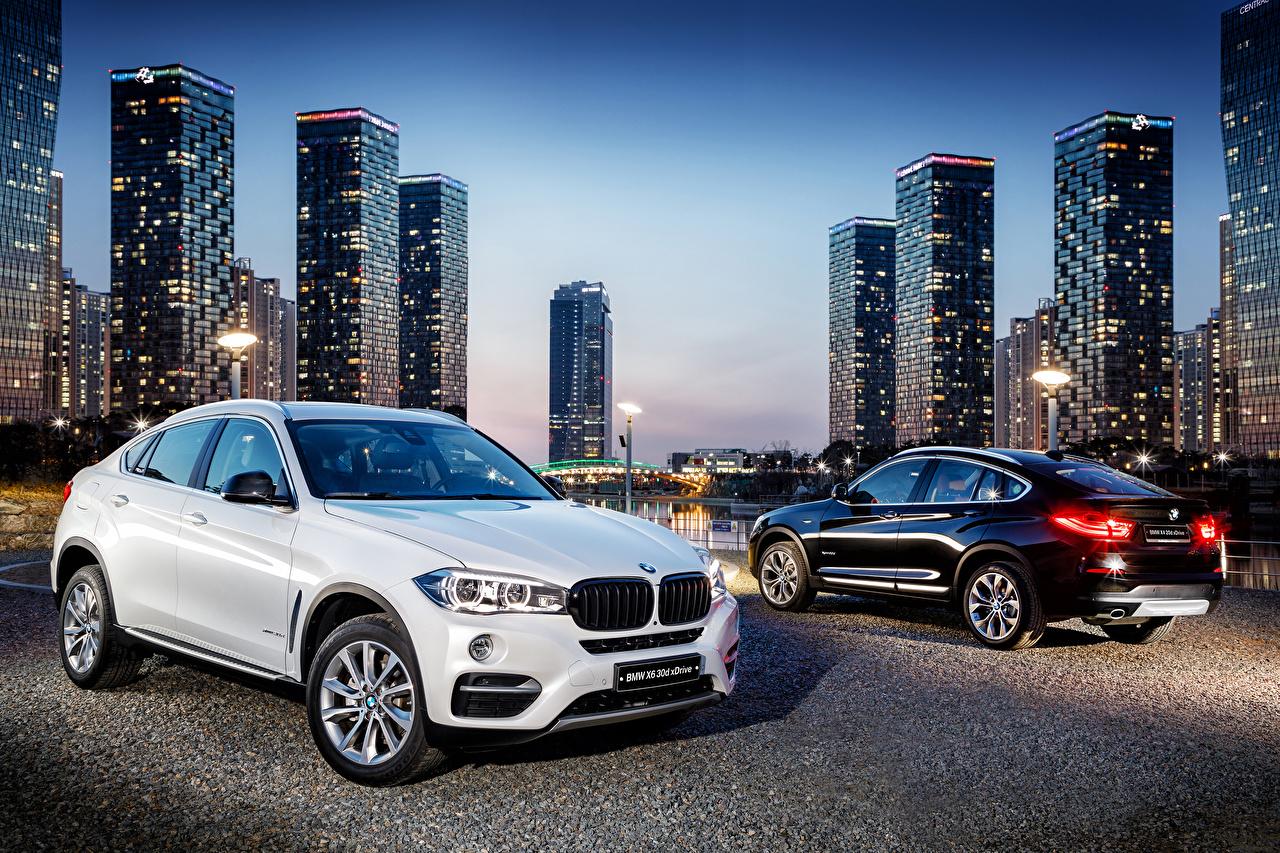 Фотографии BMW 2015-18 X4 xDrive 20d M Sport Двое Металлик автомобиль БМВ 2 два две вдвоем авто машина машины Автомобили
