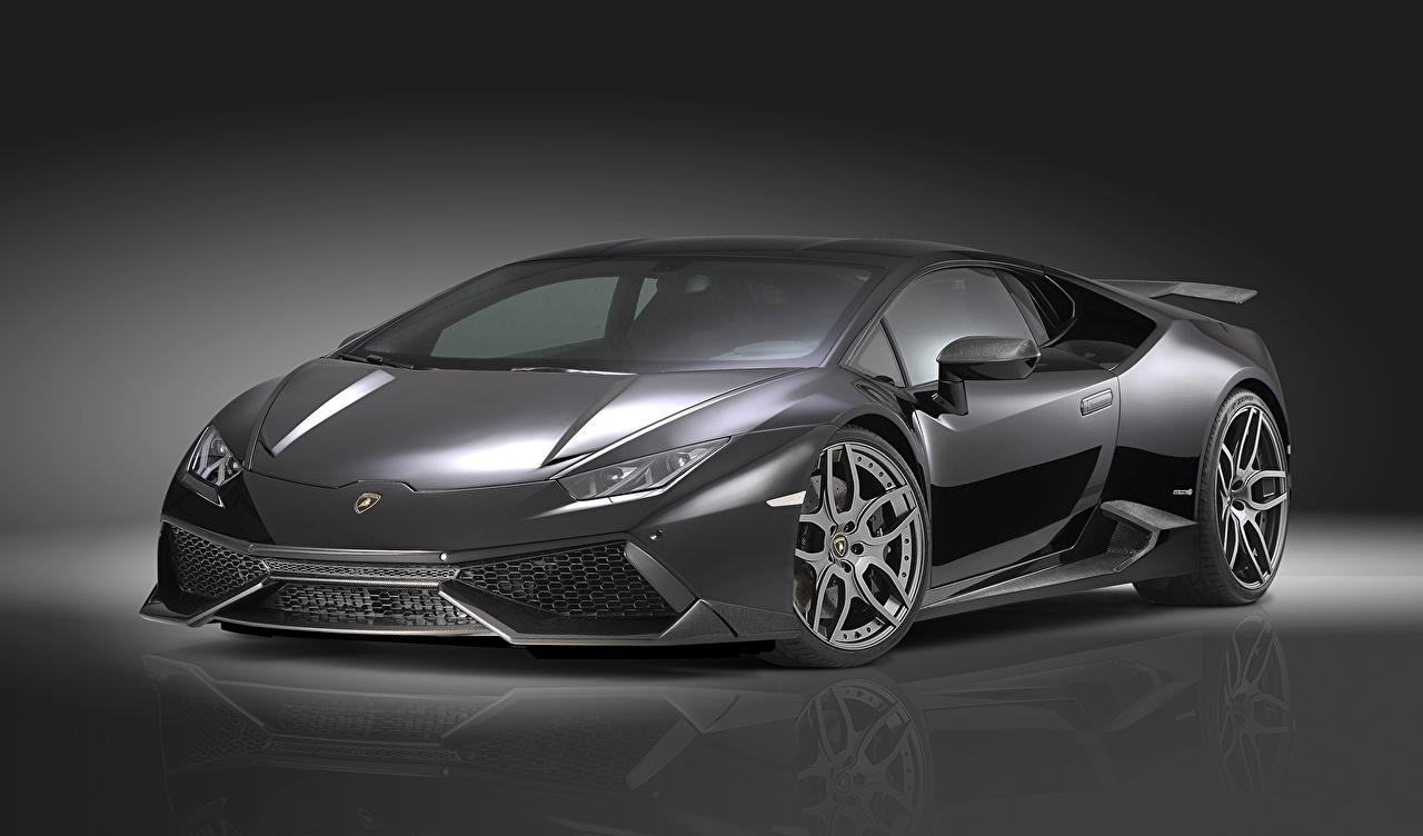 Фотография Lamborghini Тюнинг 2015 Huracan LP 610-4 novitec люксовые Серый авто Стайлинг Ламборгини дорогие дорогой дорогая роскошная Роскошные роскошный серые серая машина машины автомобиль Автомобили