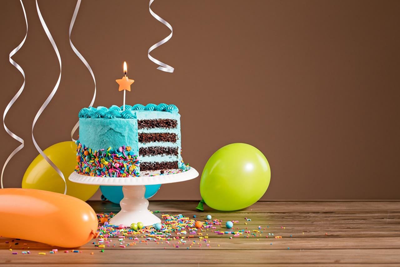 Картинки День рождения Торты Еда Пища Продукты питания