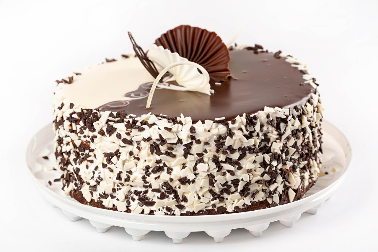 Фотографии Шоколад Торты Еда Белый фон Дизайн Пища Продукты питания белом фоне белым фоном дизайна