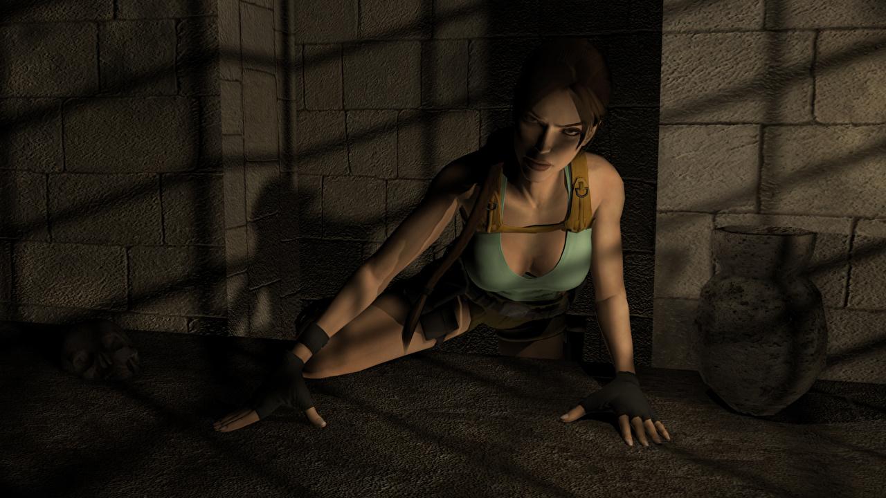 Обои для рабочего стола Tomb Raider Tomb Raider Legend Лара Крофт 3д молодая женщина компьютерная игра девушка Девушки 3D Графика молодые женщины Игры