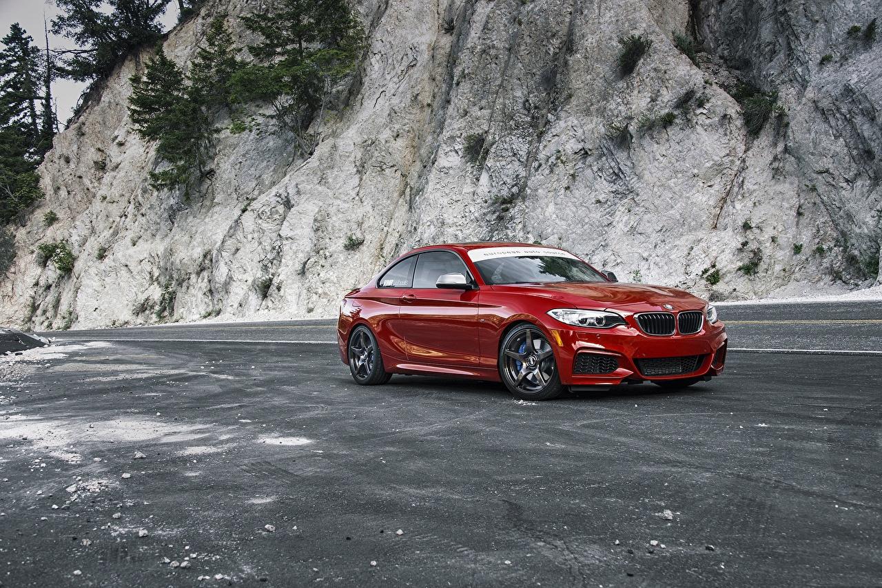 Фото BMW F22 M235i Красный машина БМВ красная красные красных авто машины Автомобили автомобиль