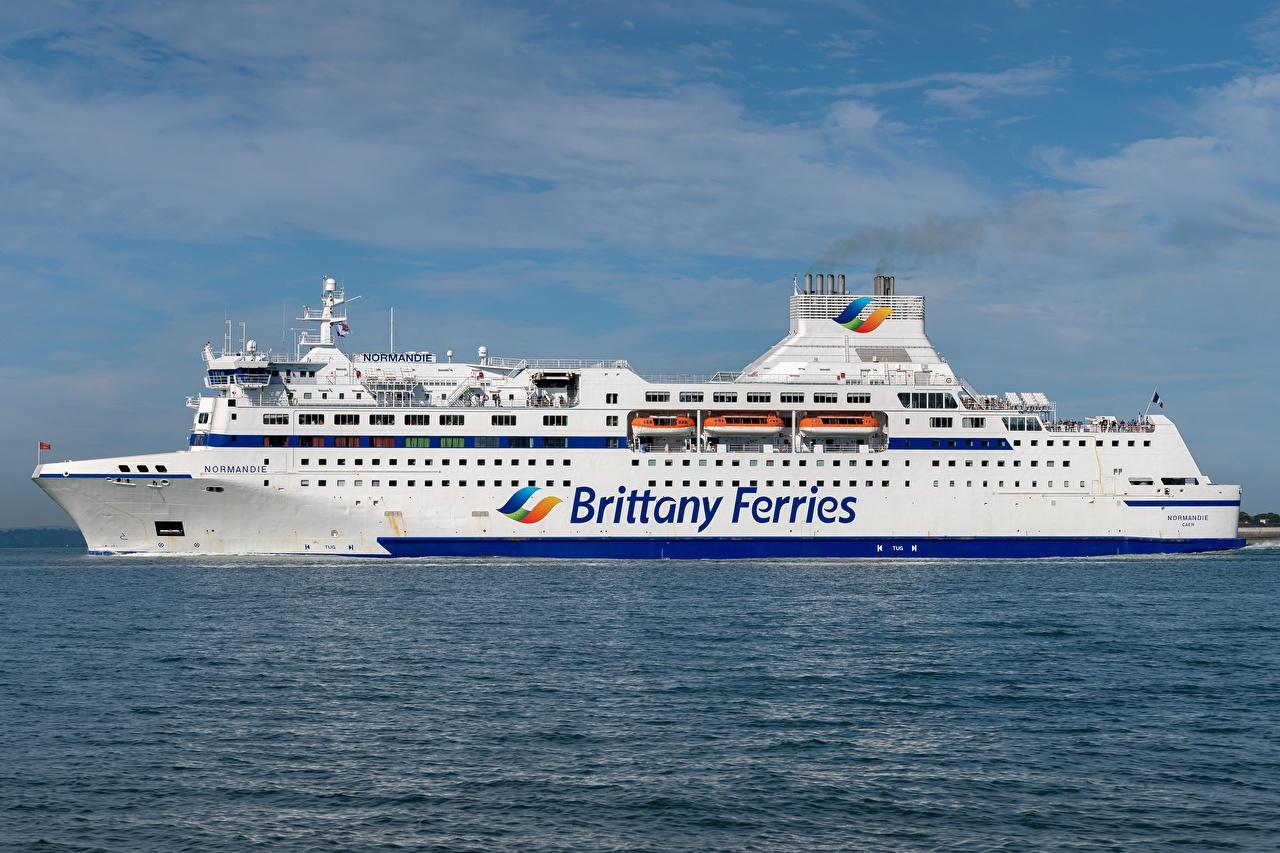 Обои для рабочего стола MV Normandie, Brittany Ferries Море Корабли корабль