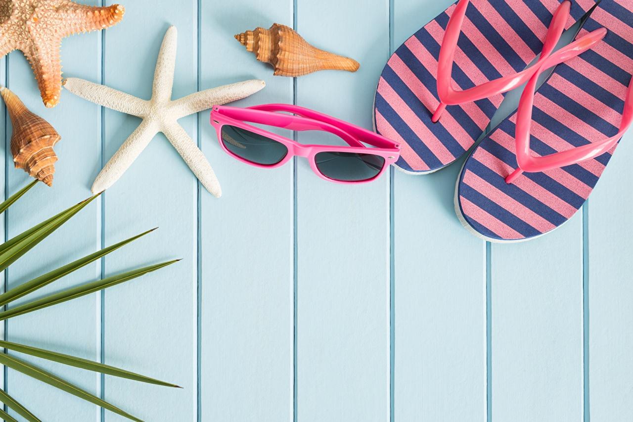 Фотографии шлепки Лето Очки Шаблон поздравительной открытки Доски сланцы Вьетнамки очков очках