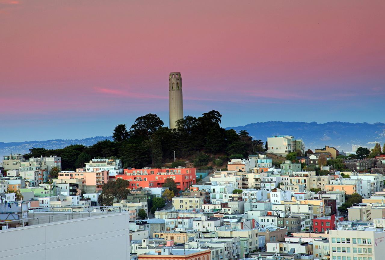 Картинка Калифорния Сан-Франциско штаты город Здания калифорнии США америка Дома Города