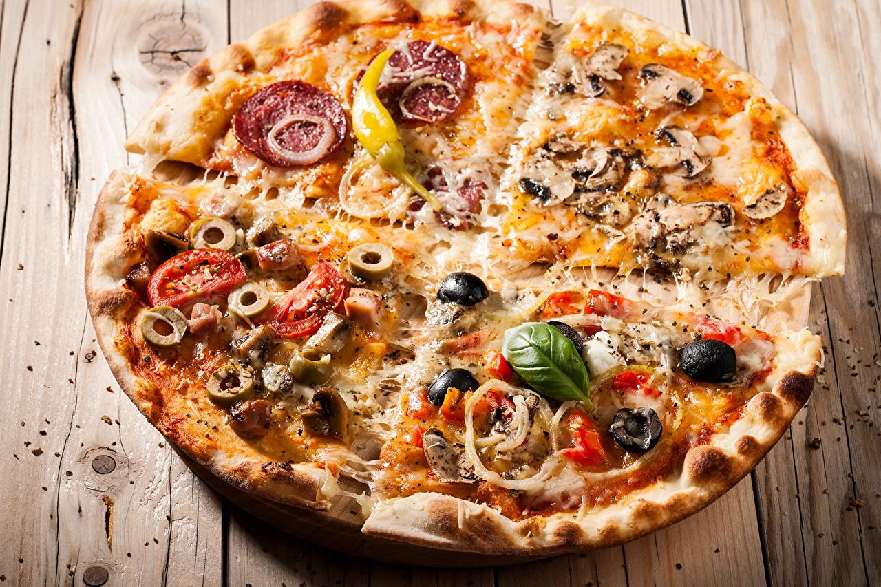 Картинки Пицца Фастфуд Еда вблизи Быстрое питание Пища Продукты питания Крупным планом
