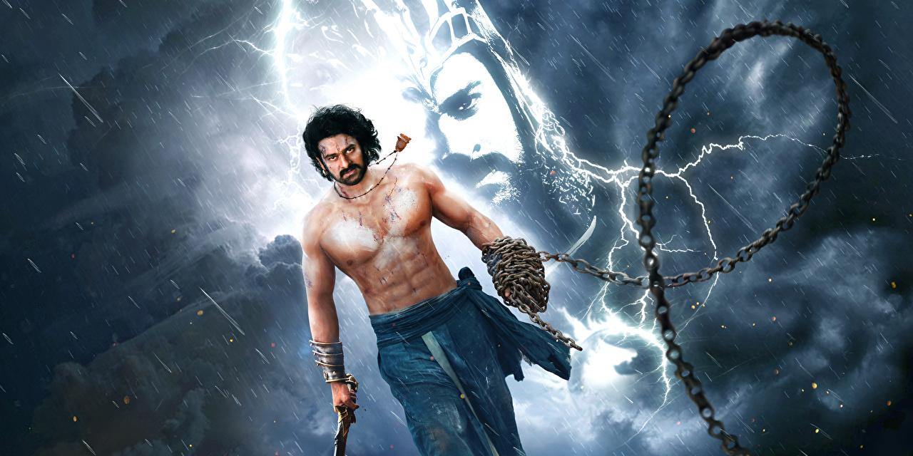 Фотография Бахубали: Завершение Мужчины Prabhas Цепь Дождь Фильмы Бахубали: Рождение легенды Кино