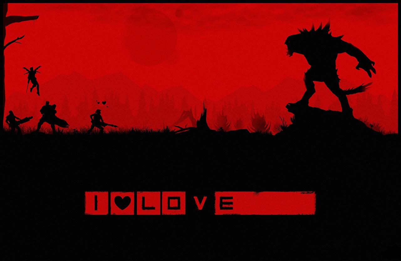Картинка Evolve игра Чудовище воины Силуэт Stage 2 Игры Монстры Воители