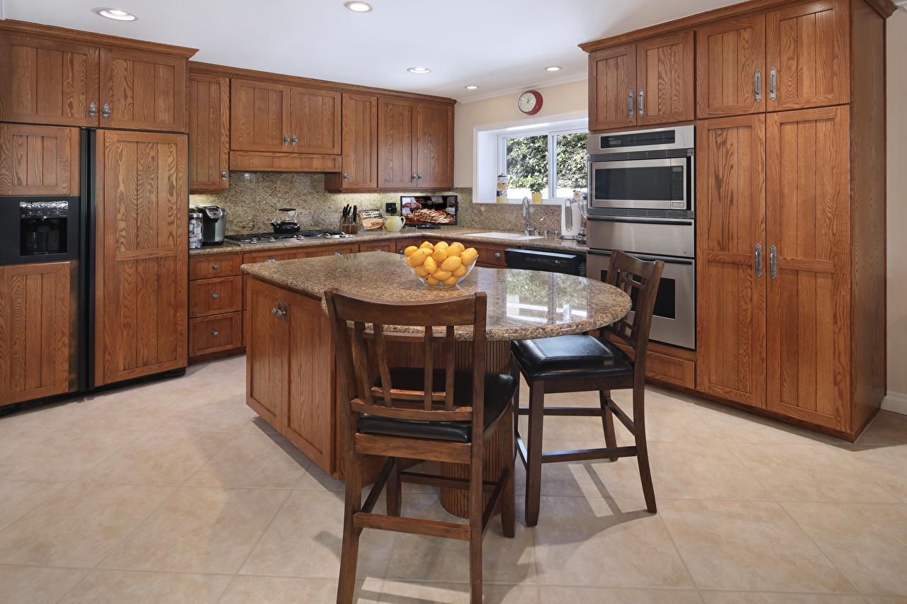 Картинка Кухня Интерьер стул стола дизайна кухни Стол столы Стулья Дизайн