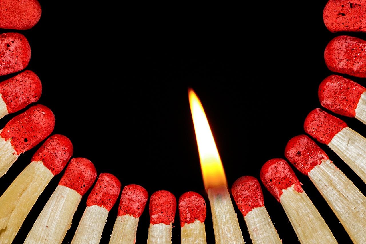 Картинки Спички Огонь Много пламя