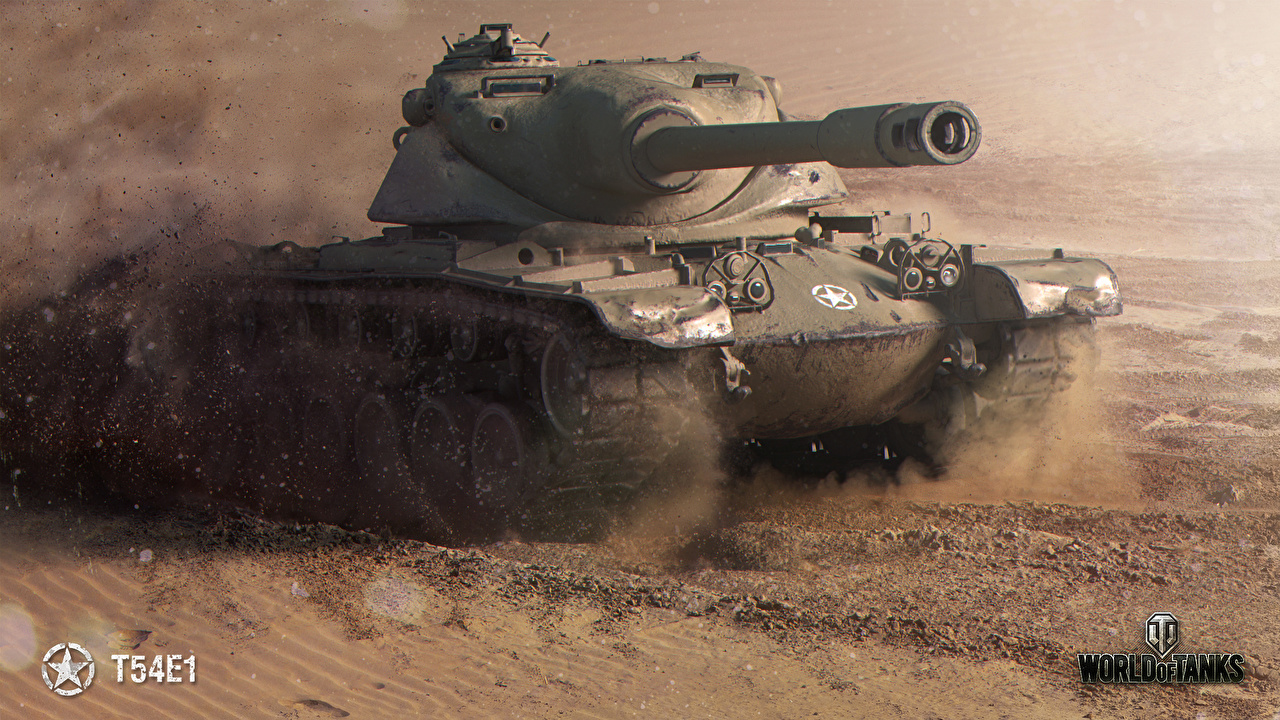 Картинки World of Tanks Танки T54E1 Игры WOT танк компьютерная игра
