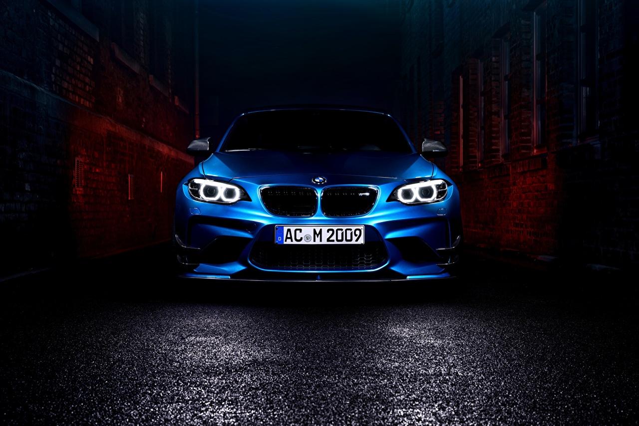Фото БМВ F87 Купе синие машины Спереди BMW синяя Синий синих авто машина Автомобили автомобиль