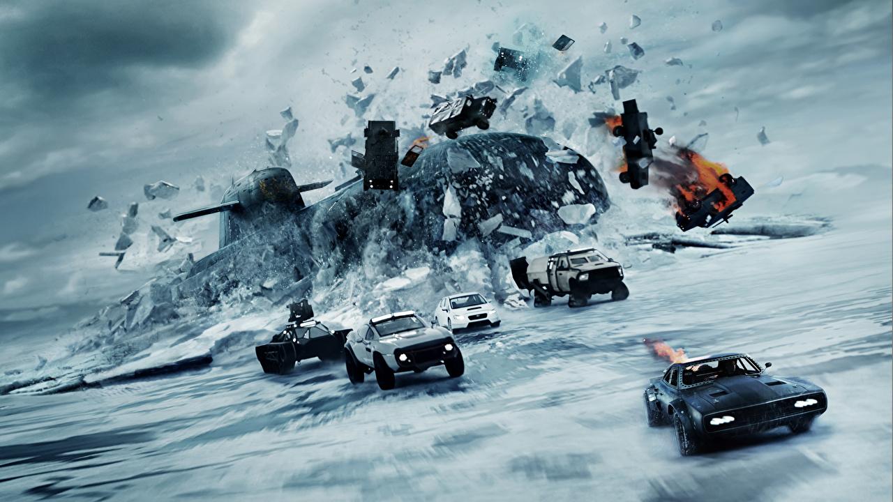 Картинки Форсаж 8 Подводные лодки льда Фильмы Лед кино