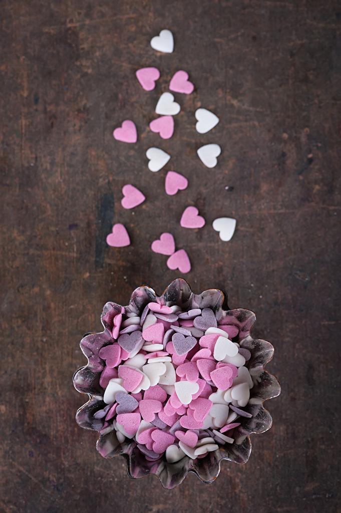 Фотография День святого Валентина сердечко Конфеты Пища сладкая еда  для мобильного телефона День всех влюблённых серце сердца Сердце Еда Продукты питания Сладости