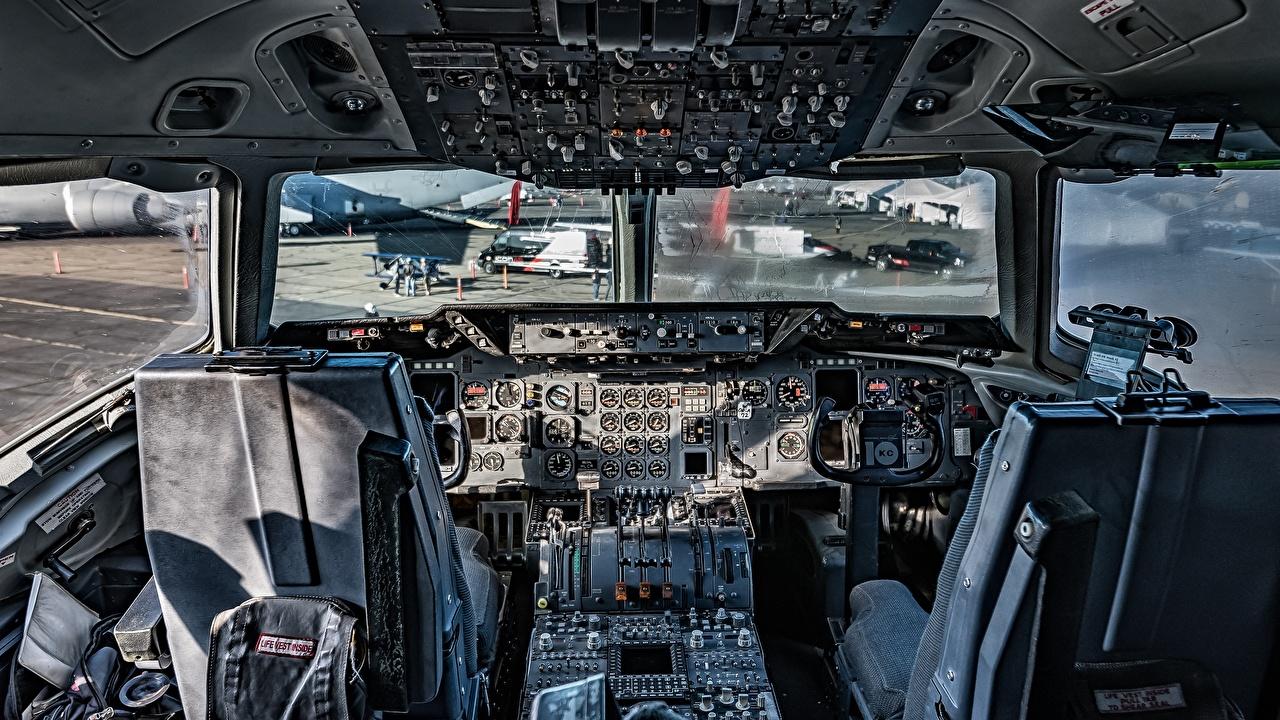 Фотография Самолеты Кабина пилота KC 135 Stratotanker Авиация Кабина летчика
