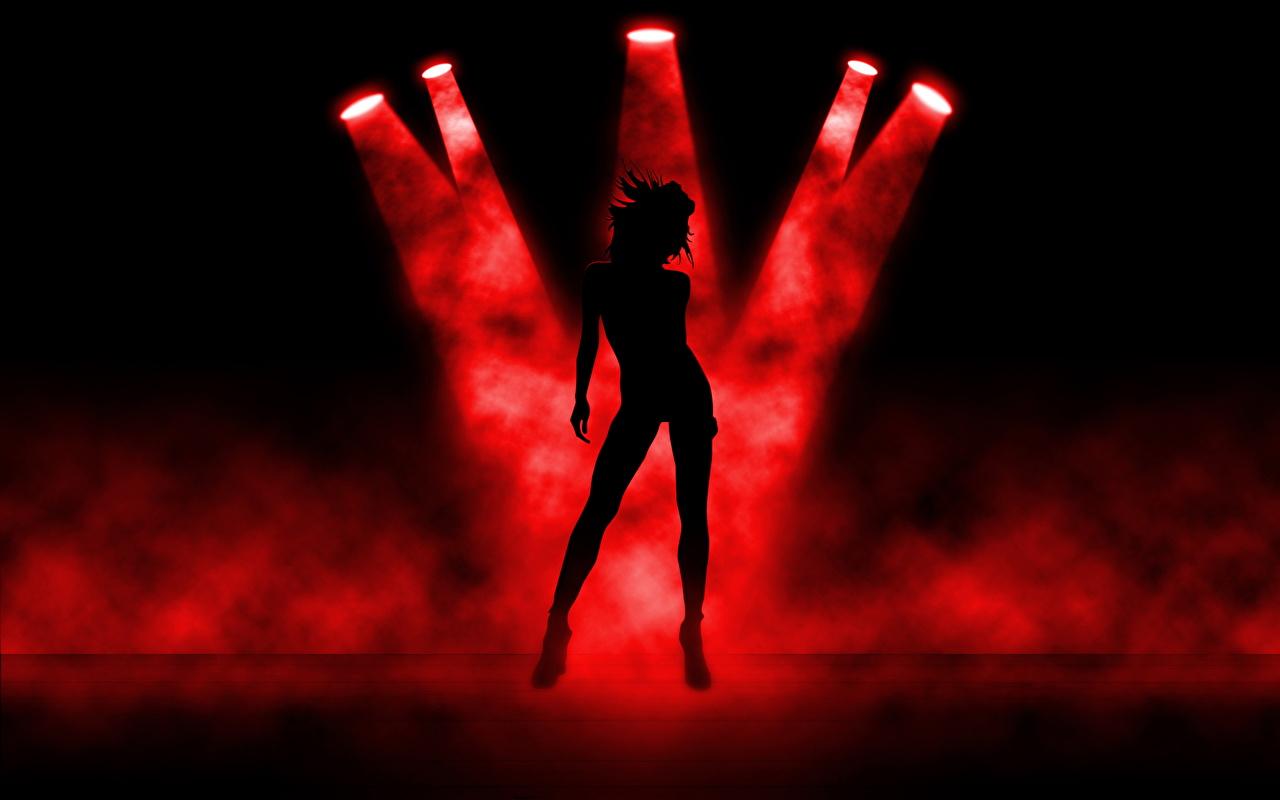 Фото Танцы силуэта молодые женщины танцуют танцует Силуэт силуэты девушка Девушки молодая женщина