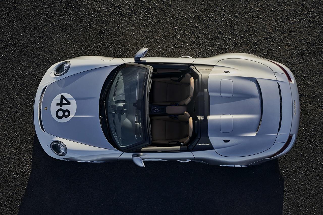Картинки Porsche Speedster 991 2019 Родстер авто Сверху Порше машина машины автомобиль Автомобили