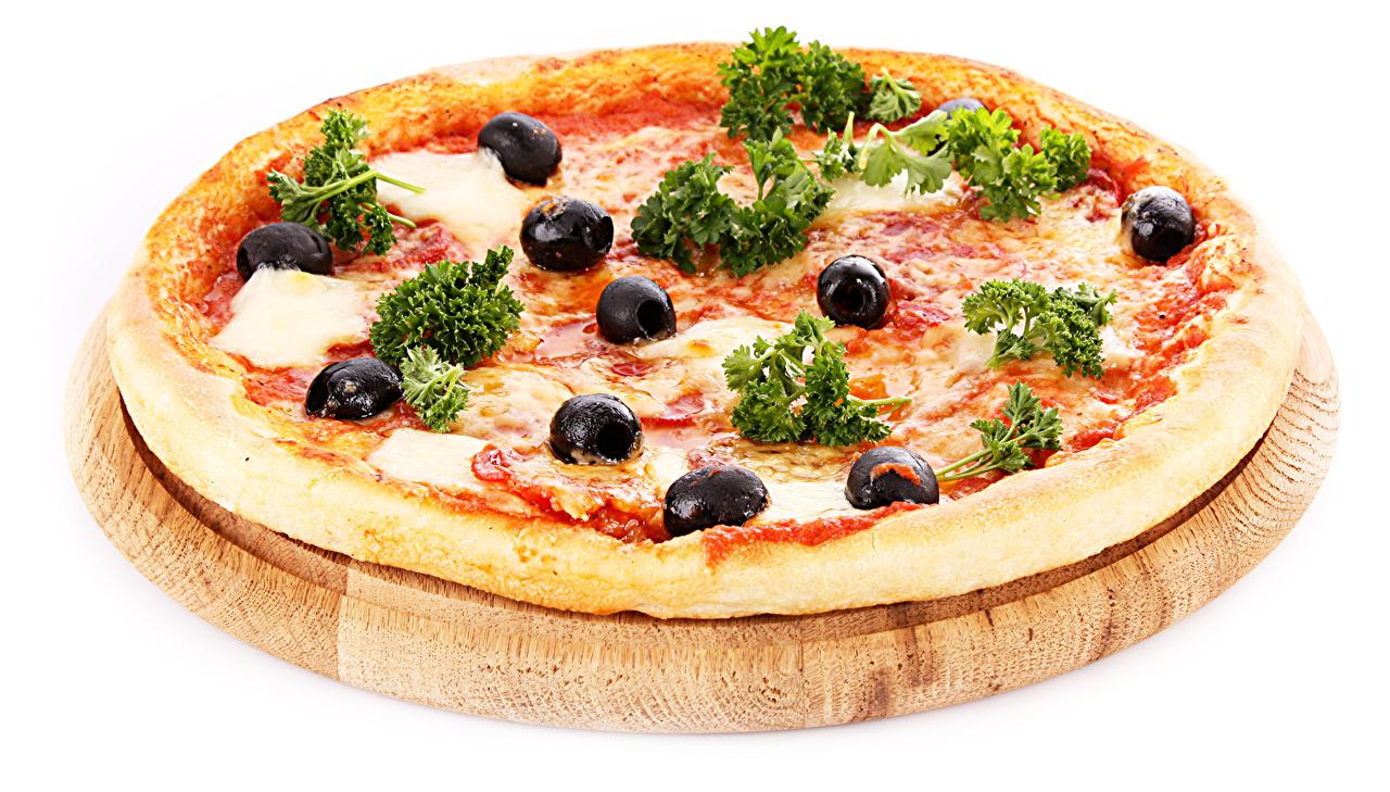 Обои для рабочего стола Еда Пицца Оливки вблизи Пища Продукты питания Крупным планом