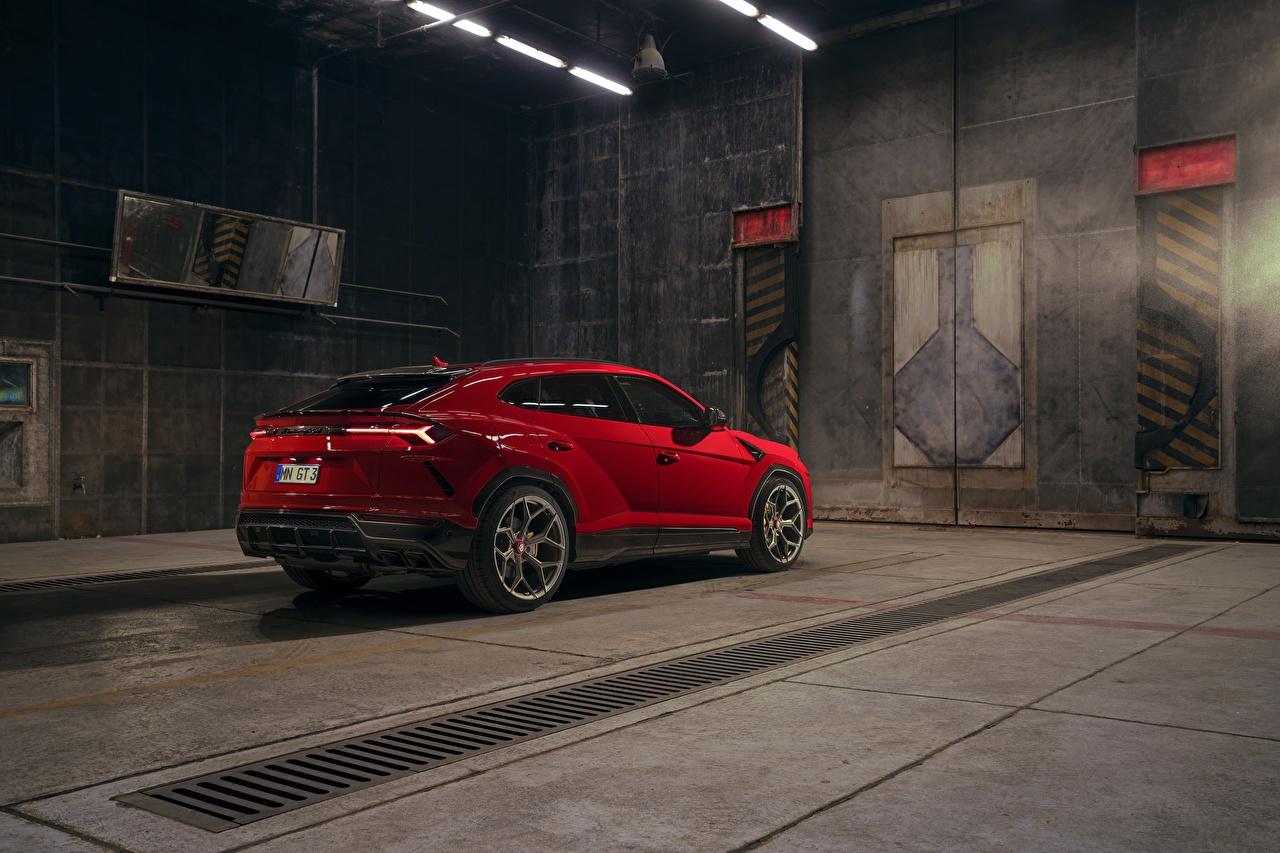 Картинка Ламборгини Кроссовер Urus Novitec 2019 красные автомобиль Lamborghini CUV красная Красный красных авто машины машина Автомобили