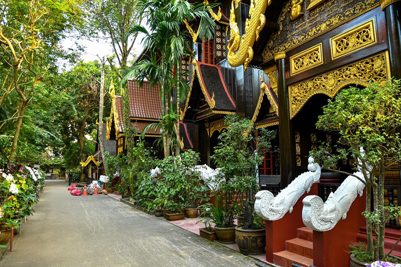 Картинка Таиланд Chiang Rai Улица Дома Города Дизайн Здания