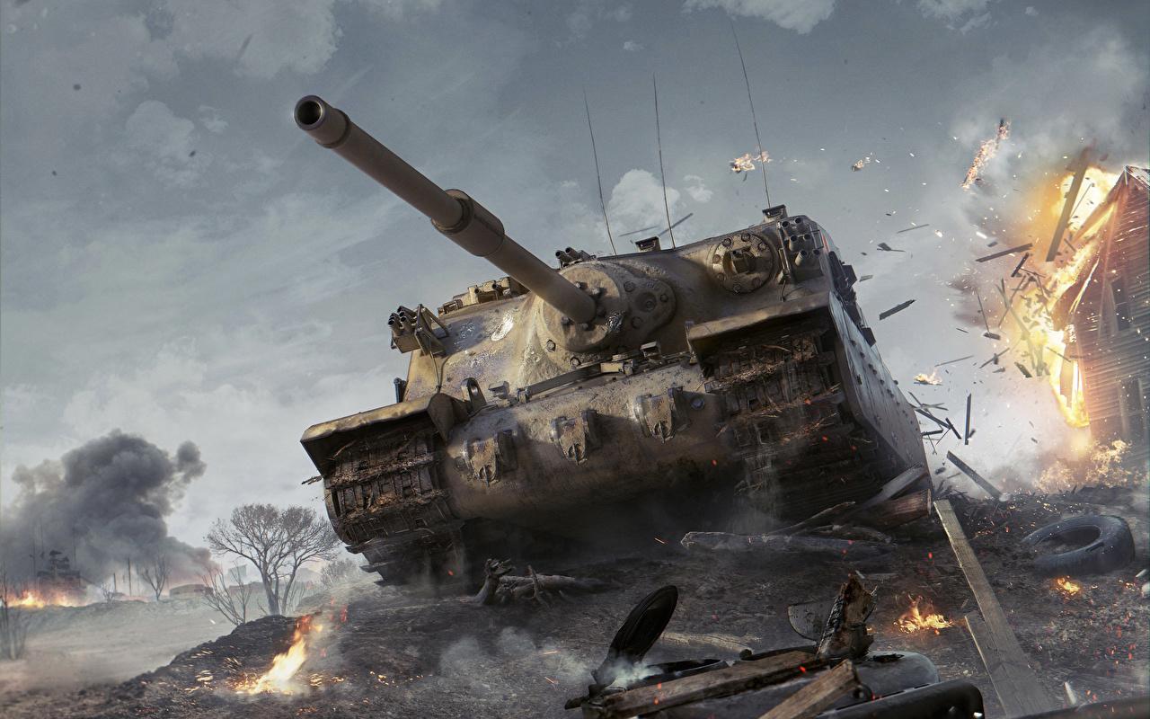 迫力がある戦車の壁紙
