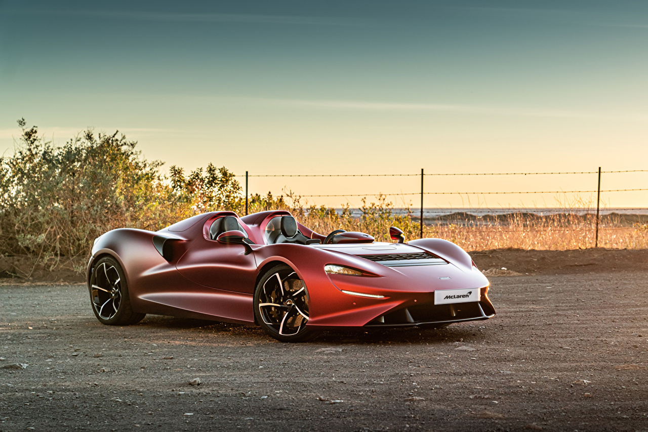 Фотографии Макларен 2020-21 Elva Worldwide Родстер Бордовый машины McLaren бордовая бордовые темно красный авто машина Автомобили автомобиль