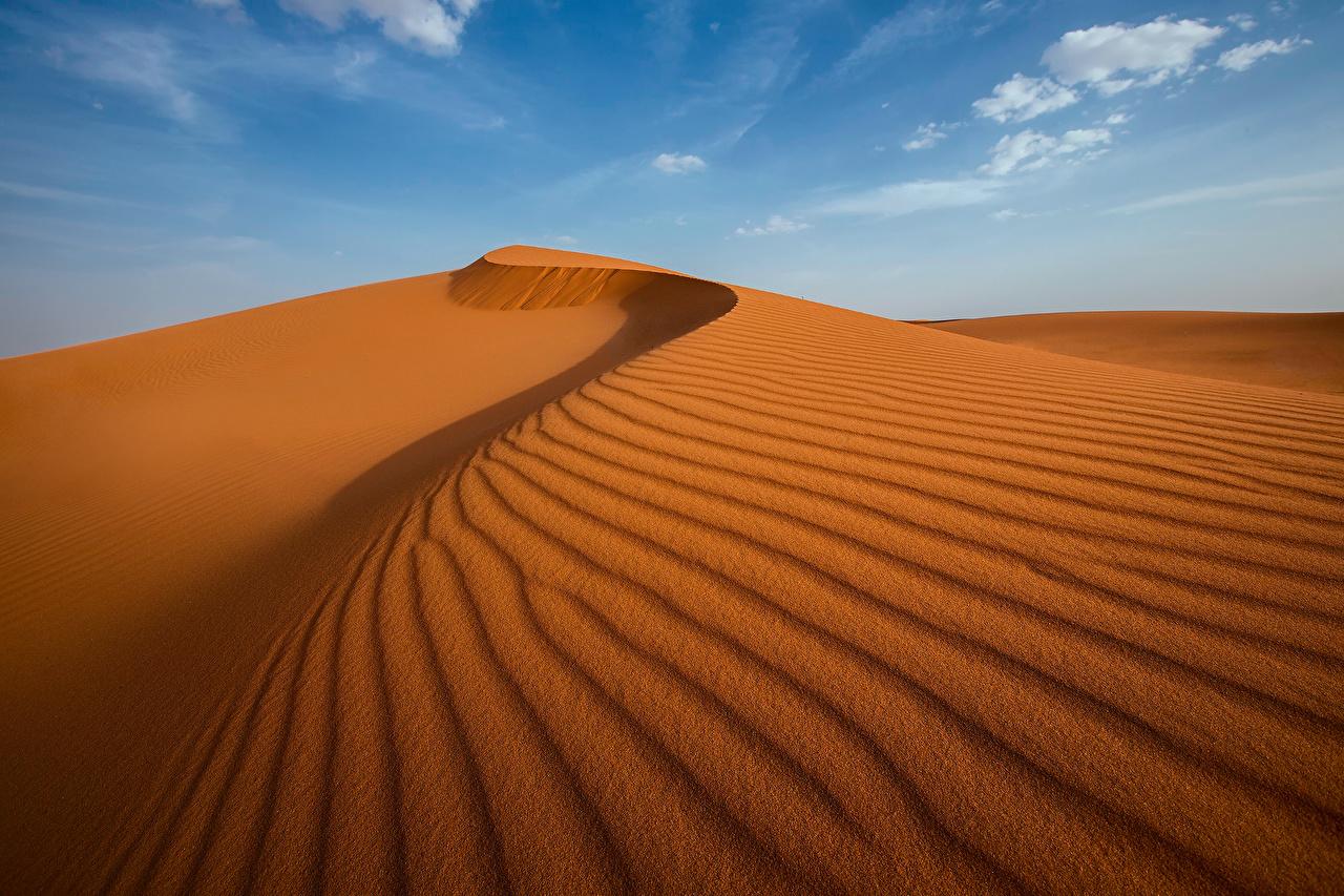 Картинка Пустыни Природа Небо песка пустыня Песок песке